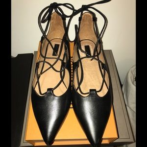 Topshop Kingdom Flats Black NWT